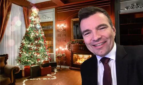 Online julelunsj med Tom Wangerud